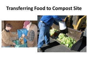 Transferring food to Compost Pile